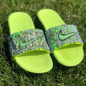 Customized LYNX Nike Kawa Slides